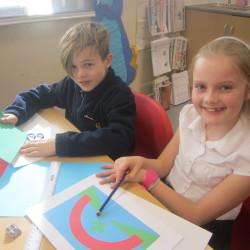 School Council designing flag