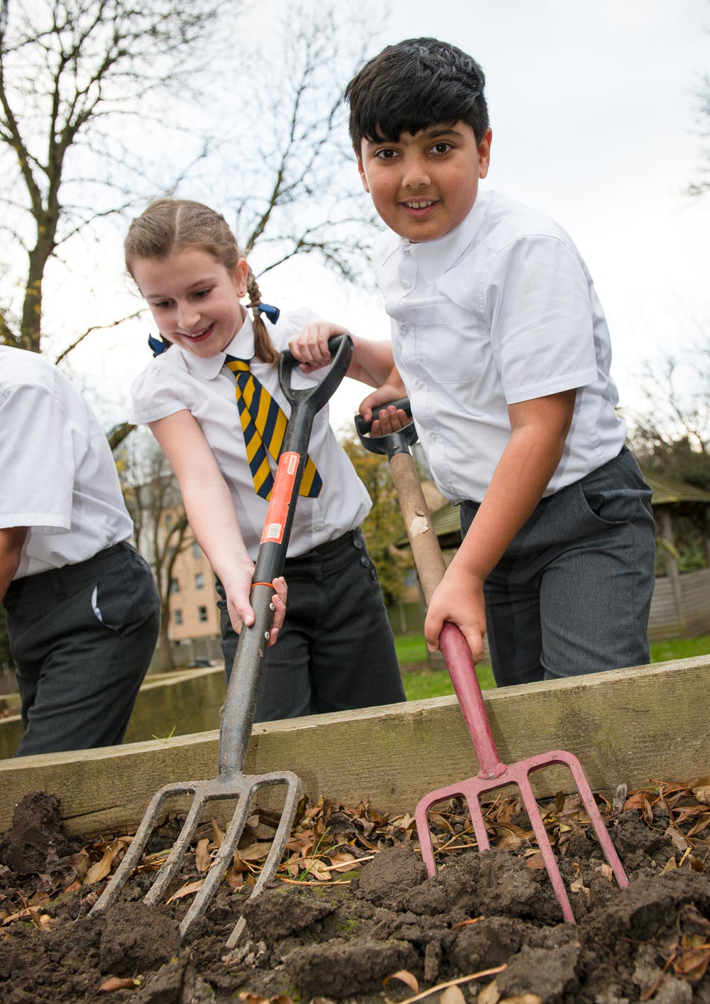 The Eco Committee digging