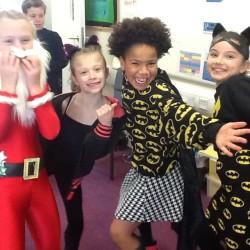 Children dressing up for Children in Need