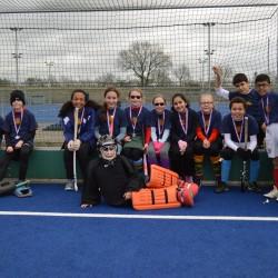 Winning hockey team
