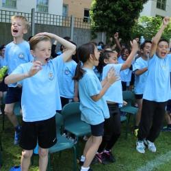 Children cheering at Sports Day 2016
